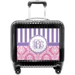 Pink & Purple Damask Pilot / Flight Suitcase (Personalized)
