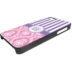 Pink & Purple Damask Plastic iPhone 5/5S Phone Case (Personalized)