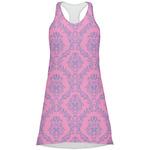 Pink & Purple Damask Racerback Dress (Personalized)