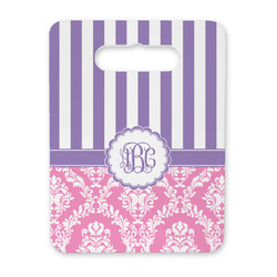 Pink & Purple Damask Rectangular Trivet with Handle (Personalized)