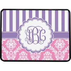 """Pink & Purple Damask Rectangular Trailer Hitch Cover - 1.25"""" (Personalized)"""