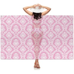 Pink & Purple Damask Sheer Sarong (Personalized)