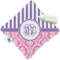 Pink & Purple Damask Security Blanket (Personalized)