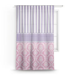 Pink & Purple Damask Sheer Curtains (Personalized)