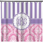 Pink & Purple Damask Shower Curtain (Personalized)