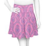 Pink & Purple Damask Skater Skirt (Personalized)