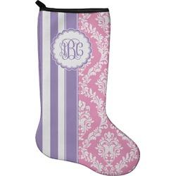 Pink & Purple Damask Christmas Stocking - Neoprene (Personalized)