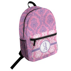 Pink & Purple Damask Student Backpack (Personalized)