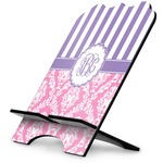 Pink & Purple Damask Stylized Tablet Stand (Personalized)