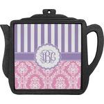 Pink & Purple Damask Teapot Trivet (Personalized)
