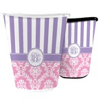Pink & Purple Damask Waste Basket (Personalized)