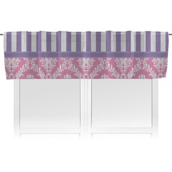 Pink & Purple Damask Valance (Personalized)
