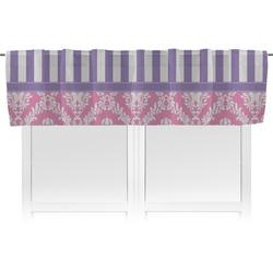 Pink & Purple Damask Valance (Personalized)