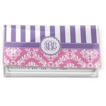 Pink & Purple Damask Vinyl Checkbook Cover (Personalized)