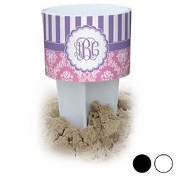 Pink & Purple Damask Beach Spiker Drink Holder (Personalized)