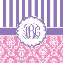 Pink & Purple Damask