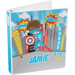 Superhero in the City 3-Ring Binder (Personalized)