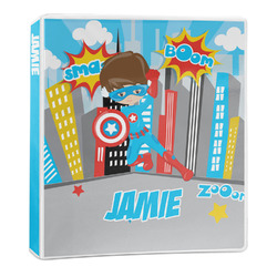 Superhero in the City 3-Ring Binder - 1 inch (Personalized)