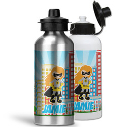 Superhero in the City Water Bottles- Aluminum (Personalized)