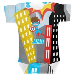 Superhero in the City Baby Bodysuit (Personalized)