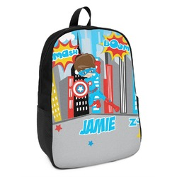 Superhero in the City Kids Backpack (Personalized)