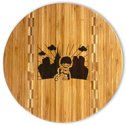 Superhero in the City Bamboo Cutting Board (Personalized)
