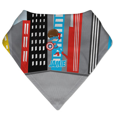 Superhero in the City Bandana Bib (Personalized)