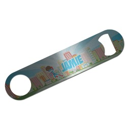 Superhero in the City Bar Bottle Opener (Personalized)