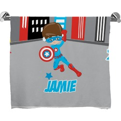 Superhero in the City Full Print Bath Towel (Personalized)