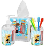 Superhero in the City Acrylic Bathroom Accessories Set w/ Name or Text
