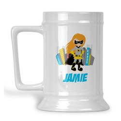 Superhero in the City Beer Stein (Personalized)