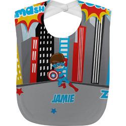 Superhero in the City Baby Bib (Personalized)