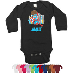 Superhero in the City Long Sleeves Bodysuit - 12 Colors (Personalized)