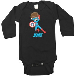 Superhero in the City Bodysuit - Black (Personalized)