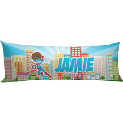 Superhero in the City Body Pillow Case (Personalized)