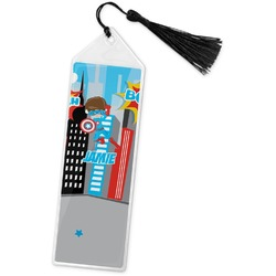 Superhero in the City Book Mark w/Tassel (Personalized)