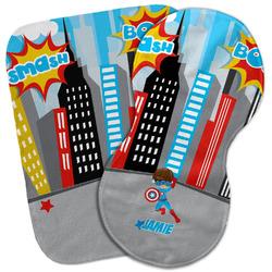Superhero in the City Burp Cloth (Personalized)