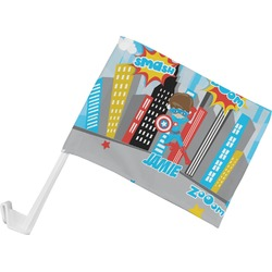 Superhero in the City Car Flag (Personalized)