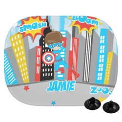 Superhero in the City Car Side Window Sun Shade (Personalized)
