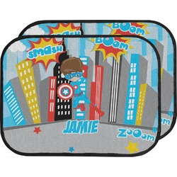 Superhero in the City Car Floor Mats (Back Seat) (Personalized)