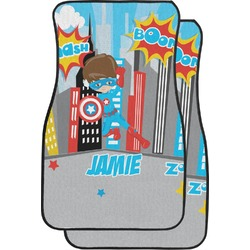 Superhero in the City Car Floor Mats (Front Seat) (Personalized)