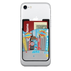 Superhero in the City 2-in-1 Cell Phone Credit Card Holder & Screen Cleaner (Personalized)