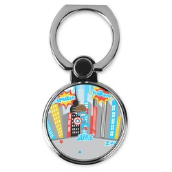 Superhero in the City Cell Phone Ring Stand & Holder (Personalized)