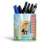 Superhero in the City Ceramic Pen Holder
