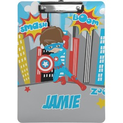 Superhero in the City Clipboard (Personalized)
