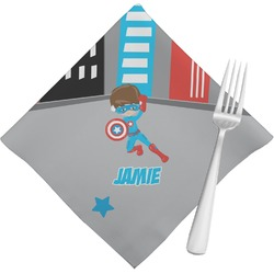 Superhero in the City Napkins (Set of 4) (Personalized)