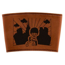 Superhero in the City Leatherette Mug Sleeve (Personalized)