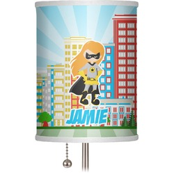 """Superhero in the City 7"""" Drum Lamp Shade (Personalized)"""