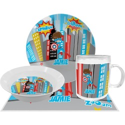 Superhero in the City Dinner Set - 4 Pc (Personalized)
