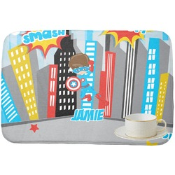 Superhero in the City Dish Drying Mat (Personalized)